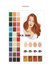 Colour analysis display visual